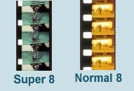 Super 8 und Normal 8 Film