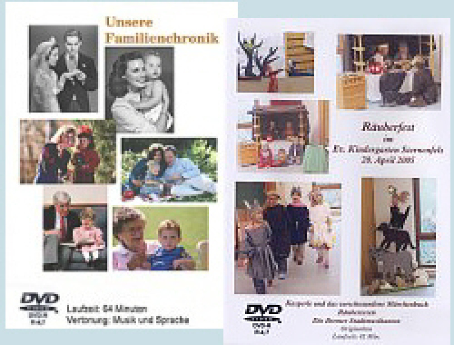 Video-DVD Cover Gestaltung